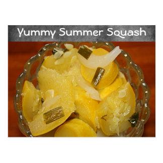 Yummy Yellow Squash Recipe Postcard