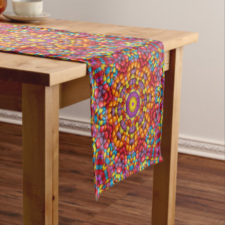 Yummy Yum  Kaleidoscope  Colorful Table Runner