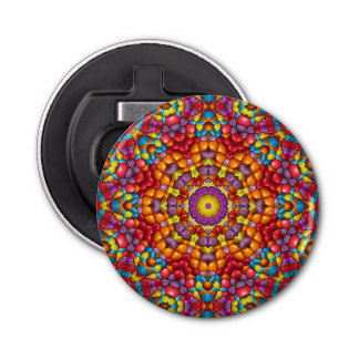 Yummy Yum Yum Kaleidoscope Magnetic Bottle Opener