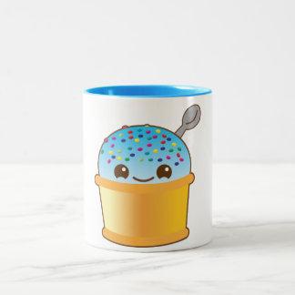 Yummy yummy bucket ice-cream kawaii! NP Two-Tone Mug