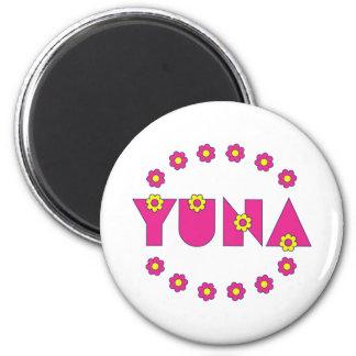 Yuna in Flores Pink 6 Cm Round Magnet