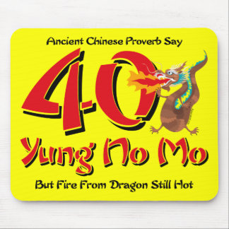 Yung No Mo 40th Birthday Mouse Mat