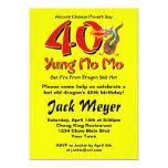 Yung No Mo 40th Birthday Personalized Invitations