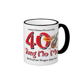 Yung No Mo 40th Birthday Ringer Mug