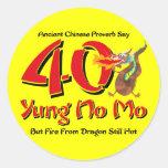 Yung No Mo 40th Birthday Stickers
