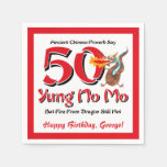Yung No Mo 50th Birthday Paper Napkins