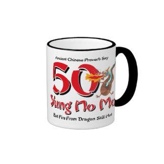 Yung No Mo 50th Birthday Ringer Mug