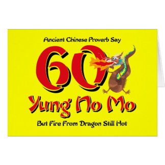 Yung No Mo 60th Birthday Card