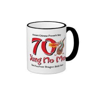 Yung No Mo 70th Birthday Ringer Mug