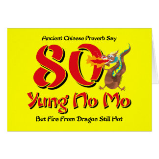 Yung No Mo 80th Birthday Card