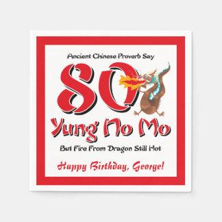 Yung No Mo 80th Birthday Paper Napkin