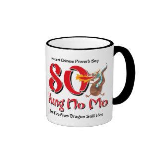 Yung No Mo 80th Birthday Ringer Mug
