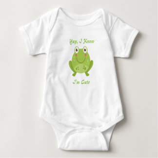 Yup, I Know...I'm Cute Baby Bodysuit