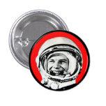 Yuri Gagarin - Soviet Hero & Cosmonaut 3 Cm Round Badge