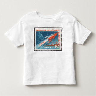 Yuri Gagarin Vostok 1 is 1st Man in Space Toddler T-Shirt