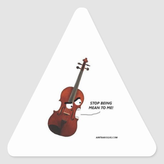 Yuri the Angry Viola Triangle Sticker