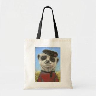 Yuri the meerkat budget tote bag