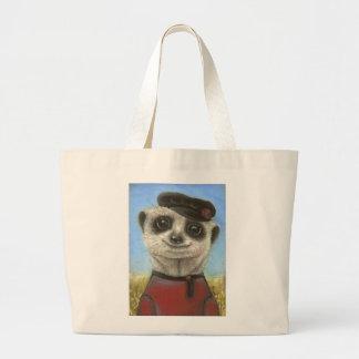 Yuri the meerkat jumbo tote bag
