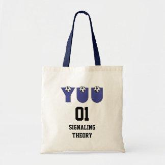 Yuu in Soccer Blue Budget Tote Bag