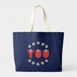 Yuu in Soccer Red Large Tote Bag