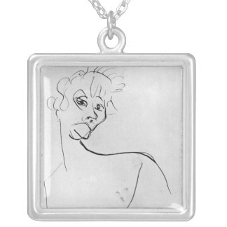 Yvette Guilbert  1894 Silver Plated Necklace