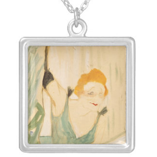 Yvette Guilbert  taking a Curtain Call, 1894 Square Pendant Necklace