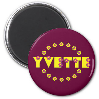 Yvette in Flores Yellow 6 Cm Round Magnet