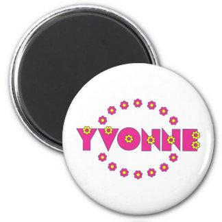 Yvonne Flores Pink Fridge Magnet