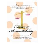 YW Value Card -Choice and Accountability Postcard