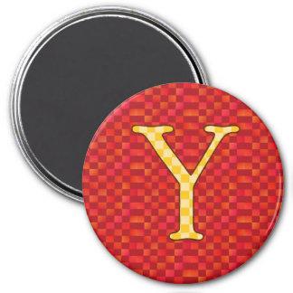 YYY 7.5 CM ROUND MAGNET