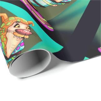 YZOX ROBOT ALIEN CARTOON Wrapping Paper