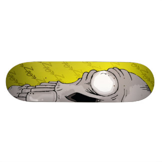 Z10 Skull Board Yellow Skateboard Deck