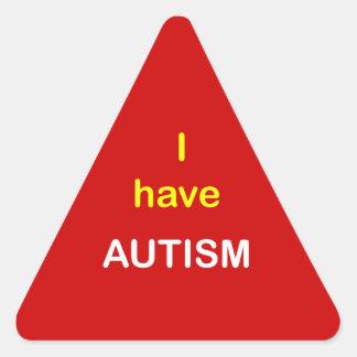 z5 - I have AUTISM. Triangle Sticker