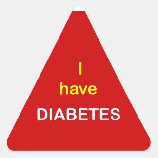z6 - I have DIABETES. Triangle Sticker