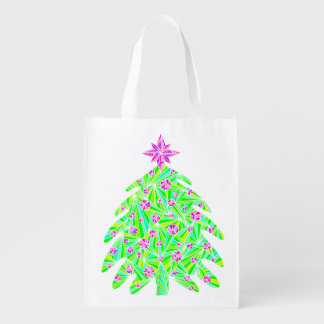 Z Abstract Holiday Christmas Tree Eco Friendly Bag