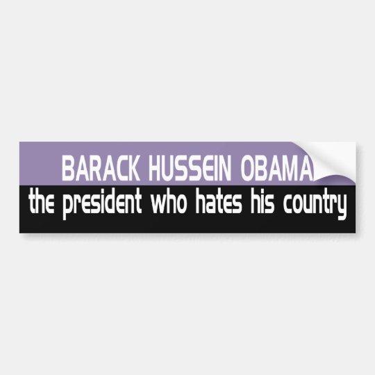 Z_bho_hates_usa Bumper Sticker
