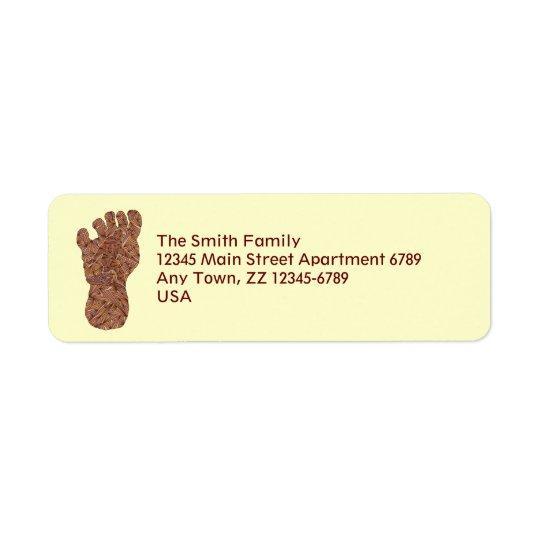 Z Bigfoot Sasquatch Track Geeky Mailing Supplies