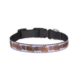 Z Bigfoot Sasquatch Track I Love Bigfoot For Pets Dog Collars