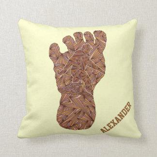 Z Bigfoot Sasquatch Track Personalized Home Decor Cushion
