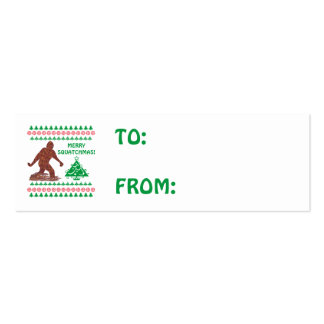 Z Bigfoot Walking Sasquatch Christmas Gift Tag Pack Of Skinny Business Cards