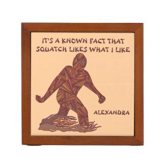 Z Bigfoot Walking Sasquatch Funny Squatch Facts Pencil Holder