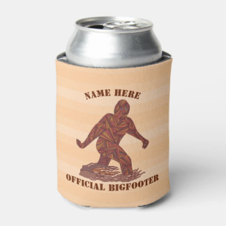 z Bigfoot Walking Sasquatch Man Cave A Cold One Can Cooler