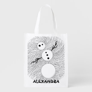 Z Black And White Snowman Personalized