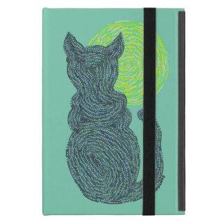 Z Black Cat And The Moon Cat Lover Feline Kitten iPad Mini Cover