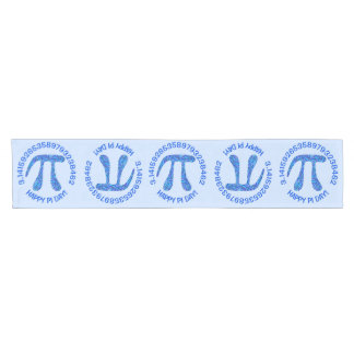 Z Blue Pi Symbol Math Geek Happy Pi Day Pattern Short Table Runner