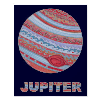 Z Colorful Astronomy Jupiter 20 x 16 Poster