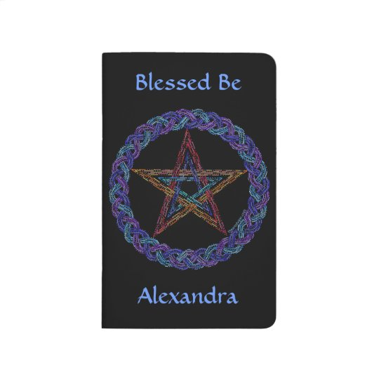 Z Colourful Pentagram New Age Personalised Journal