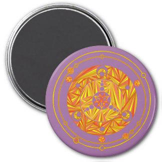 Z Cool Crop Circle Golden Yellow 7.5 Cm Round Magnet