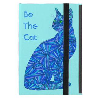 Z Cute Blue Cat Be The Cat Fun Art iPad Mini iPad Mini Case