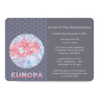 Z Europa Jupiters Moon Space Geek Colorful 13 Cm X 18 Cm Invitation Card